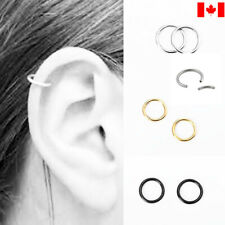 Pair Stainless Steel Ring Hoop Ear Nose Lip Cartilage Tragus Helix Piercing punk
