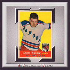 1957 Topps LORNE WORSLEY #53 VG-EX+ **superb hockey card for your set** SD