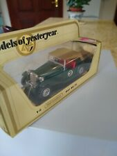 Matchbox Models of Yesteryear Y-8 1945 MG-TC in Green with Red seats