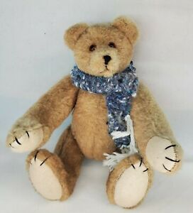 "Vintage Fully Poseable Tan-Light Brown Stuffed Teddy Bear 7"" Plush"