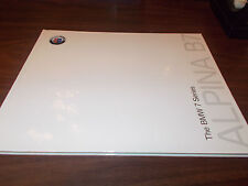 2010 BMW Alpina B7 Hard-Cover 34-page Deluxe Sales Catalog