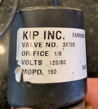 NEW KIP 3X780 120/60VAC Brass Direct Acting Solenoid Valve 1/8