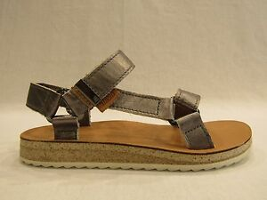 TEVA  W ORIGINAL UNIVERSAL MIRRORED METALLIC scarpa sandalo donna pelle argento