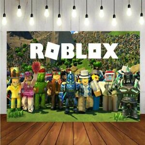 Roblox Backdrop Boys Game Happy Birthday Party Kids Photo Background Banner