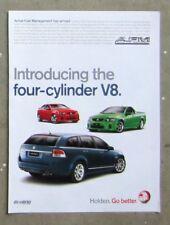 HOLDEN VE COMMODORE V8 Ute Sedan Wagon Auto Magazine Page Sales Ad Advertisement