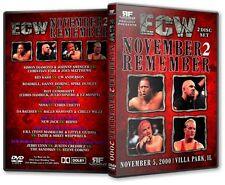 ECW Wrestling: November To  Remember 2000 DVD, Steve Corino Sandman Jerry Lynn