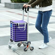 Folding Shopping Cart Portable Stair Climbing Cartwith Rolling Swivel Wheels Us