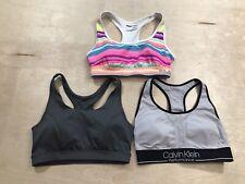 Lot of 3 Calvin Klein Tek Gear Fila Seamless Racerback Sports Bras, Size Medium