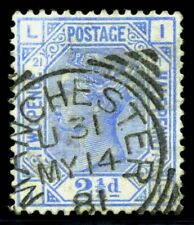 GB QV 1881, 2 1/2d. Ultra,  SC82, SG157. Plate 21. Manchester. XF Used