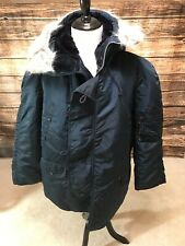 Extreme Cold Weather Parka N3B USA Made By Alpha Ind Vintage New Large Navy Blue