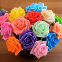 2X Artificial Rose Fake Silk Flower Leaf Bridal Home Wedding Party Decor TO