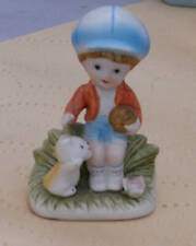 Homco #1430 Boy with Ball and Cat Porcelain Figurine