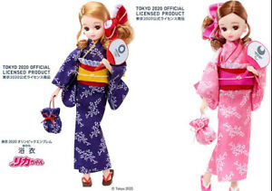 Licca chan Doll YUKATA Tokyo Olympic Blue & Paralympic Pink Official Limited