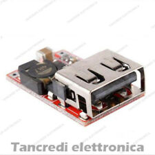 Convertitore USB DC-DC Step Down 6-24V 12V/24V a 5V 3A Modulo Carica Batteria
