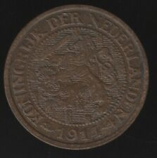 More details for 1914 netherlands 1 cent coin   european coins   pennies2pounds