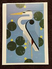 CHARLEY CHARLES HARPER   Herondipity Art print New Blue Heron Lilly Pads