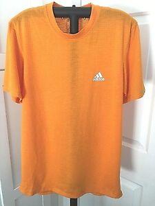 adidas Men's Aeroknit Shirt Top, Size Medium, Orange, NWT