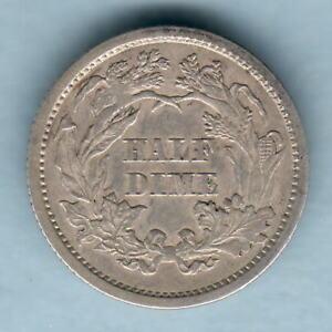 U.S.A. 1861 Half Dime..  gVF - Trace Lustre
