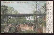 POSTCARD GLEN RIDGE NJ/NEW JERSEY OLD MOFFATT MILL WHEEL & BRIDGE 1906