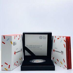 2020 RM 150th Anniv of British Red Cross £5 Silver Proof Piedfort Coin Box & COA