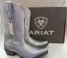 ARIAT 10029675 Tailgate Silver Metallic Leather Boots Shoes US 9 M EUR 40 NWB