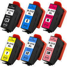 312XL Ink Cartridges 312 XL Remanufactured for Expression Photo XP-8500 Printer