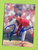 1993 Fleer Flair Autographed Card - Donovan Osborne (#123)  St. Louis Cardinals