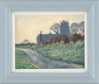 'North Clifton Church' Original Oil Landscape Painting by Malcolm Coward