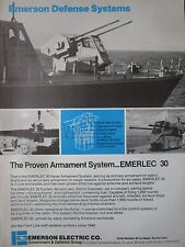 7/1982 PUB EMERSON DEFENSE SYSTEMS EMERLEC 30 NAVAL ARMAMENT SYSTEM ORIGINAL AD
