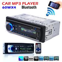 Autoradio 1 DIN MP3 Player USB/SD/AUX-IN FM Radio Audio Car Stereo Bluetooth LCD