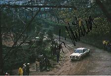 Ari Vatanen mano firmado 12x8 Foto Ford Escort Rs 1980 2.