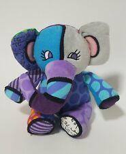 "Britto Pop Plush For Enesco Jasper Elephant  Stuffed Animal  9"""