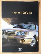 HYUNDAI XG30 Luxury Saloon 1999 prestige sales brochure - German text Swiss Mkt