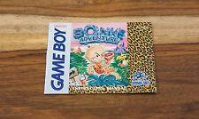 Bonks Adventure Nintendo Gameboy NEAR MINT Manual only rare