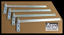 "4 x Straight Strap Hinge 460mm 18"" & Gudgeon Pin Zinc Plated, Trailer Horsebox"