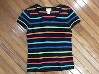 Talbots Women's Striped Top Blouse T-shirt Size Petite S