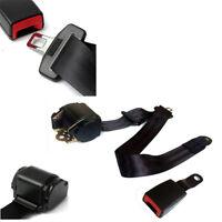 Car Auto 3 Point Retractable Seat Belt Lap & Diagonal Belt Nylon Straps Black