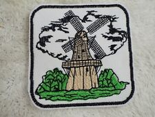 "Dutch WINDMILL 4"" Embroidery Iron-on Patch (E23)"