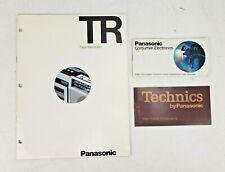 Vintage Panasonic Brochure Catalogs Spec Sheet Electronics 1970s Technics