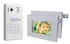 "Videoportero Interfono, 2x 7"" Monitor Memoria De Imagen Codigo De Números"
