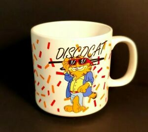VINTAGE GARFIELD MUG DISCO CAT COFFEE  MUG CUP