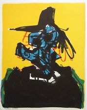 "ANTONIO SAURA mounted ltd ed original lithograph 14 x 12"" Situationist 1967 ST26"