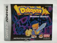 Dokapon Monster Hunter Instruction Booklet Manual ONLY Game Boy Advance, GBA