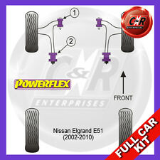 Nissan Elgrand E51 (02-10) Powerflex Complete Bush Kit