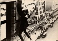 Harold Lloyd in Safety Last 1923 Movie Star Real Photo Postcard
