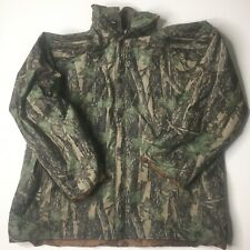 Duck Bay Mens Camo Camouflage PVC Raincoat Rain Coat Jacket Lined Sz L
