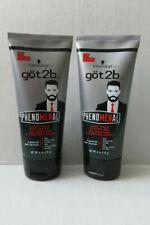 2 x Men's Light Hold Styling Hair Gel Schwarzkop got2b Phenomenal