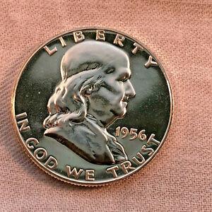 1956 Gem Proof Cameo Proof Franklin Half Dollar
