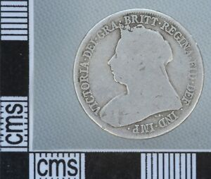 GREAT BRITAIN VICTORIA Old Veiled Head Silver SHILLING 1/- Coin 1900
