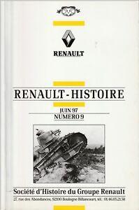 revue renault histoire - juin  1997 , n°9